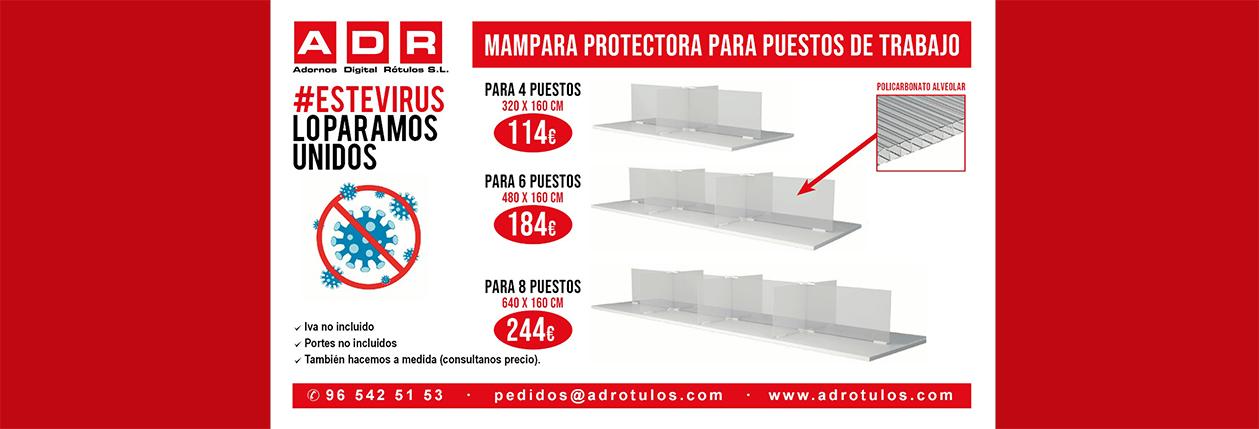 PUBLICIDAD COVID-19 MAMPARA PUESTOS