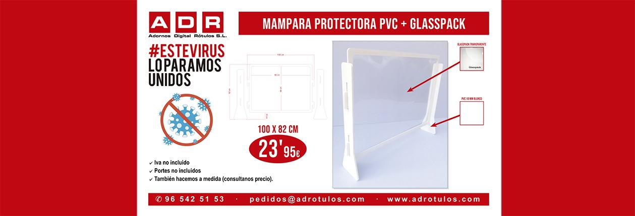 PUBLICIDAD COVID-19 MAMPARA PVC