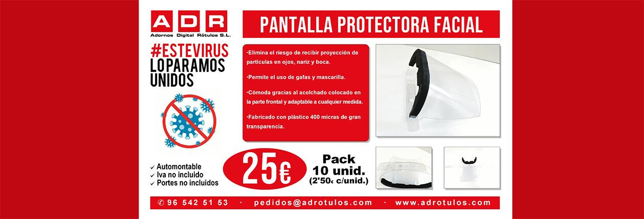 PUBLICIDAD COVID-19 PANTALLA FACIAL