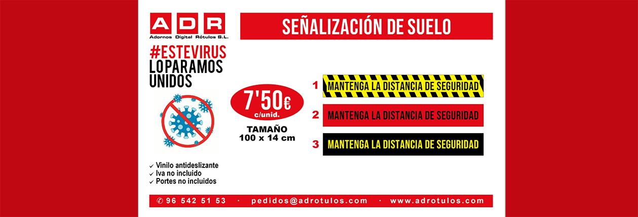 PUBLICIDAD COVID-19 SEÑALIZACION SUELO